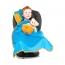Подушка с пледом Trunki, голубая