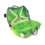 Чемодан на колесиках Trunki Динозавр, зеленый