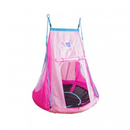 Качели-гнездо Hudora 110 с палаткой, сердечко