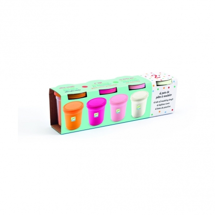 Набор пластилина Djeco, 4 пастельных цвета