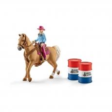 Набор Schleich Девушка-ковбой с лошадью и аксессуарами