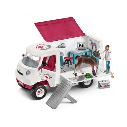 Набор Schleich Ветеринарный фургон с ганноверским жеребенком