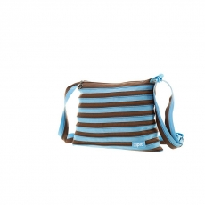Сумка Zipit Medium Shoulder Bag, голубой+коричневый