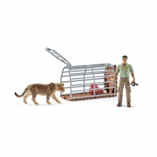 Набор Schleich Рейнджер и капкан для леопарда