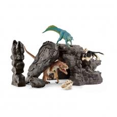Набор Schleich Пещера динозавров