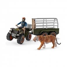 Набор Schleich Квадроцикл с прицепом для перевозки животных