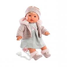 Кукла Llorens Ника в бежевом, 48 см, со звуком