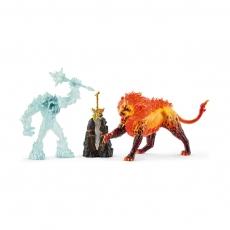 Набор Schleich Ледяной монстр против огненного льва