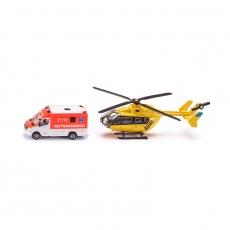 Фургон Mercedes и вертолет Eurocopter