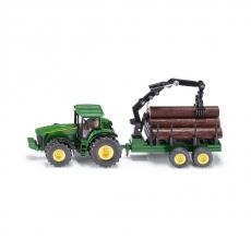 Трактор John Deere 8430 с трейлером