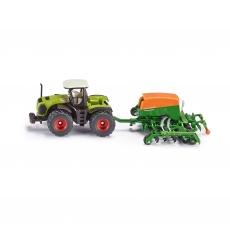 Трактор Claas Xerion и сеялка