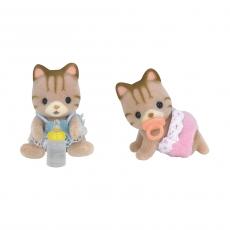 Набор Sylvanian «Полосатые котята-двойняшки»