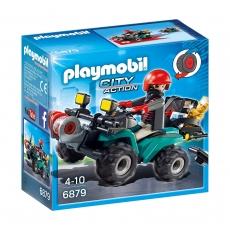 Квадроцикл грабителя Playmobil с награбленным