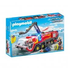 Пожарная машина в аэропорту Playmobil со светом и звуком