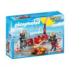 Операция по тушению пожара Playmobil с водяным насосом