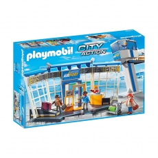 Аэропорт Playmobil с диспетчерской вышкой