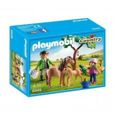 Ветеринар с пони и жеребенком Playmobil