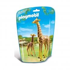 Жираф Playmobil со своим детенышем жирафом