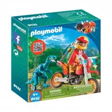Гоночный мотоцикл Playmobil с ящером