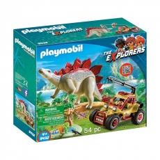 Исследовательский транспорт Playmobil со стегозавром
