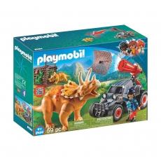 Вражеский квадроцикл Playmobil с трицератопсом