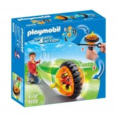 Оранжевый гонщик Playmobil на роликах