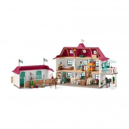 Набор Schleich Большой конный двор с жилым домом и конюшней
