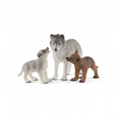 Набор Schleich Самка волка с волчатами