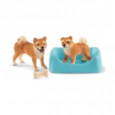 Набор Schleich Собака и щенок породы сиба-ину