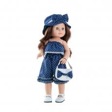 Кукла Paola Reina Soy Tu Эмили в джинсовом комбенизоне, 42 см