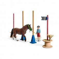 Набор Schleich для скачек с пони