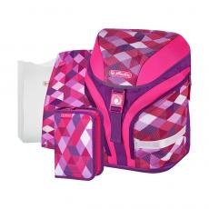 Ранец Herlitz Motion Plus Pink Cubes
