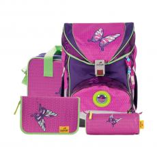 Ранец DerDieDas Ergoflex Superlight Розовая бабочка