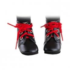 Ботинки черные с красными шнурками, для кукол Paola Reina 32 см