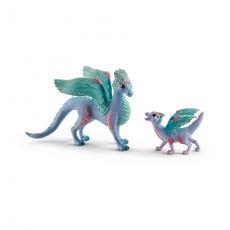 Набор Schleich Цветочный дракон с детенышем