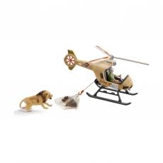 Набор Schleich вертолет-спасатель для диких животных