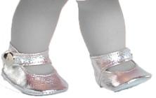 Туфли серебряные с застежкой, для кукол Paola Reina 36 см