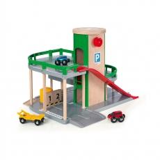 Парковка к ж/д полотну с лифтом и 3 машинками Brio