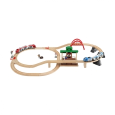 Железная дорога двухуровневая Brio, с вокзалом