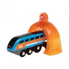 Поезд Brio Smart Tech Sound с интерактивным тоннелем и звукозаписью