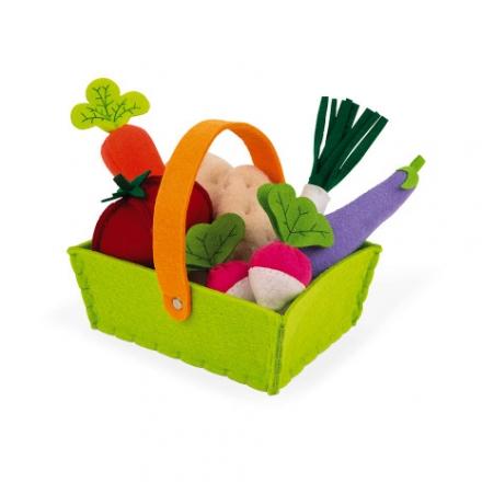 Набор овощей в корзинке Janod