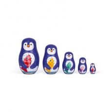 Сортер-матрешка Janod «Пингвины»