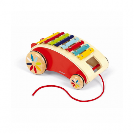 Каталка на веревочке Janod «Ксилофон»