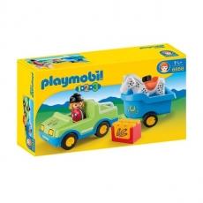 Набор Playmobil Автомобиль с коневозкой