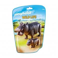 Набор Playmobil Бегемот с детенышем