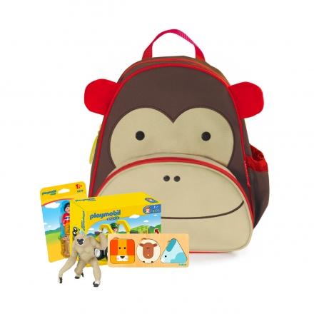 Рюкзак с подарками Skip Hop Обезьяна, с поводком
