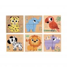 Кубики деревянные Djeco Джунгли