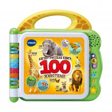Англо-русская книга Vtech «100 животных»