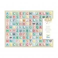 Набор объемных наклеек Djeco Латинские буквы