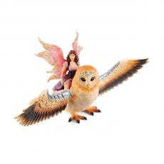 Фигурка Schleich Фея, летящая на сверкающей сове
